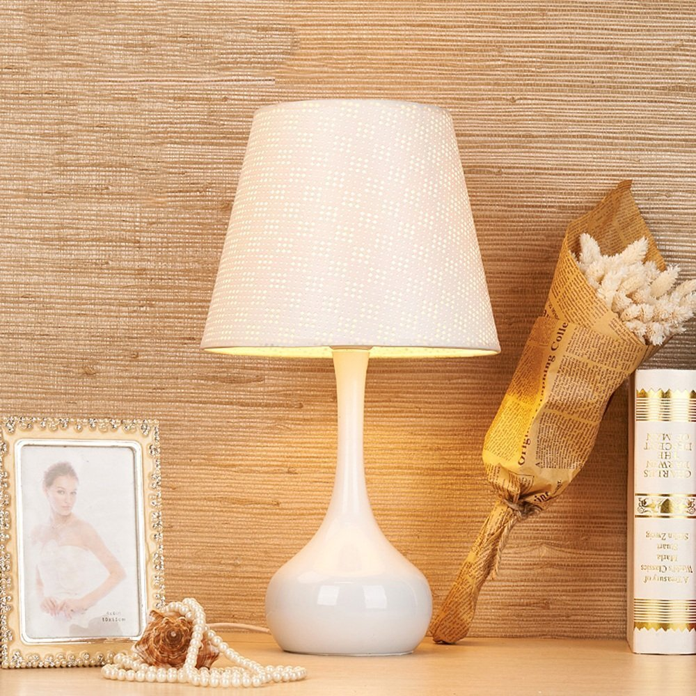 DIDIDD Ideal reading light-- dimming iron table lamp modern simple fashion creative decoration table lamp bedside bed table lamp (color optional) --desk and bedside lighting