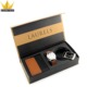 Magnetic closure flip top gift belt packaging recycled rigid cardboard box for sale