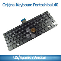 Wholesale laptop keyboard for Toshiba US/SP layout notebook keyboard L40D-A C40-A C40D C40 S40-A C45 C45T Black