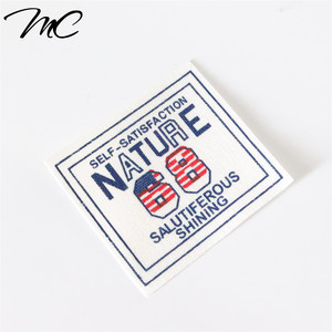 Cheap Cotton woven clothing label with printed logo