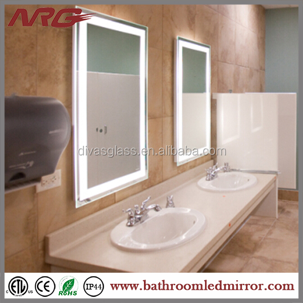 China Factory Illuminated Mirror With Demister Pad For Fogless ...