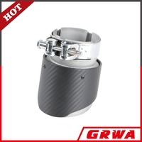 Hot sale carbon fiber exhaust tip with sand with sand blast finish