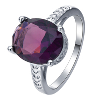 simple large red Inlay zircon rings jewelry for women party wedding jewellery