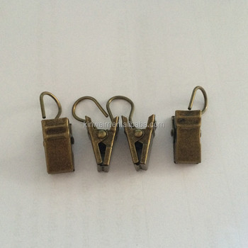 Antique Wrought Iron Metal Curtain Hooks Clips For Decorative
