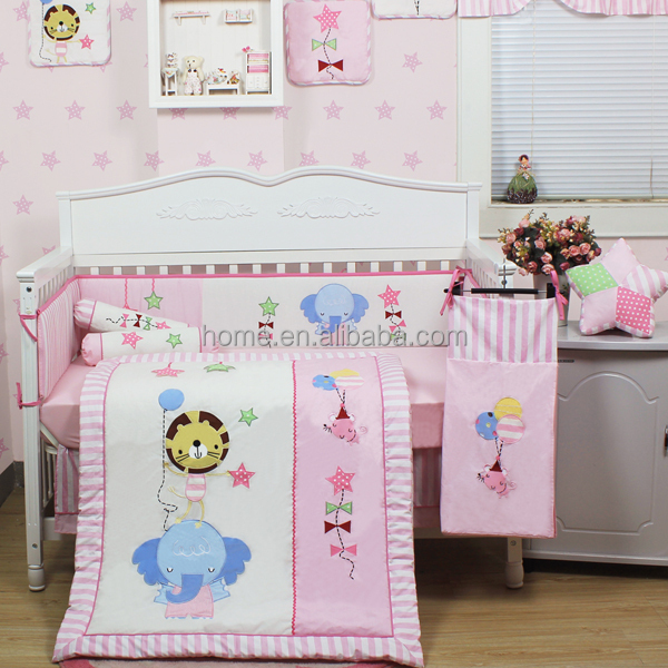 2015 new products cute crib beddings set forest animal funny baby