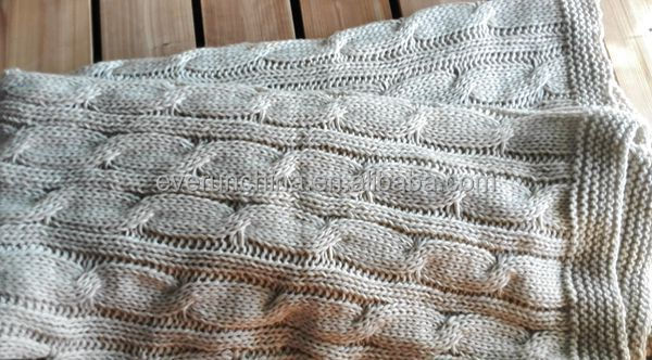 50db40 Cable Knit Fabric Sweater Fabric Blanket Oversized Knit ...