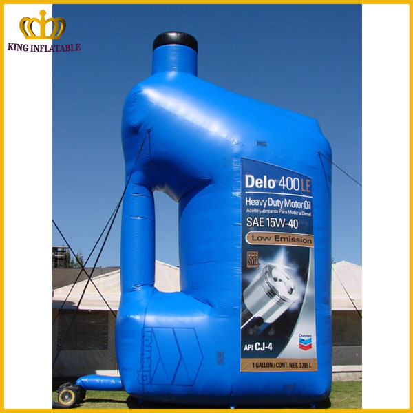 Giant Inflatable Replica Model DELO Inflatable Lubricating Oil Bottle, Advertising Motor Oil Bottle Inflatable