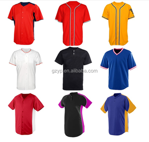Wholesale DIY Cheap Online Shopping Men's Button Down Blank Black Baseball Jersey