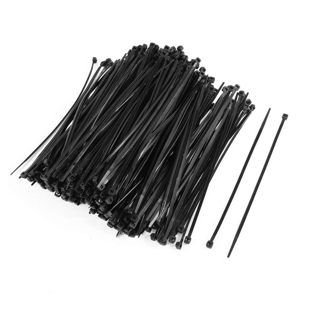 SODIAL(R) 350PCS Plastic Self Locking Packaging Cable Zip Ties Fastener 4x150mm