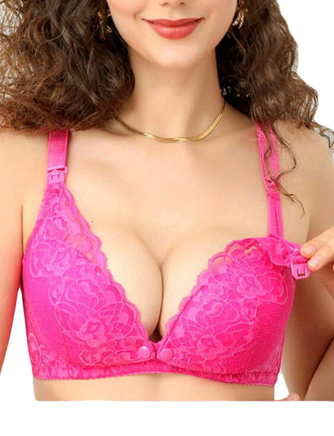 d767edfa783f4 Get Quotations · Hmarkt Womens Front Closure Nursing Full Figure Adjustable  Pregnancy Maternity Bras