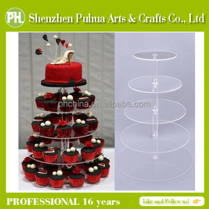 3/5/7 Tier Desktop Clear Round Acrylic Tower Cupcake Stand/Acrylic Cake Stand Birthday Wedding Party Display