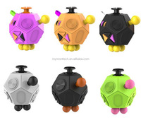 12 Sides Fidget Cube Relieves Stress and Anxiety Decompression Fidget Cube Toys
