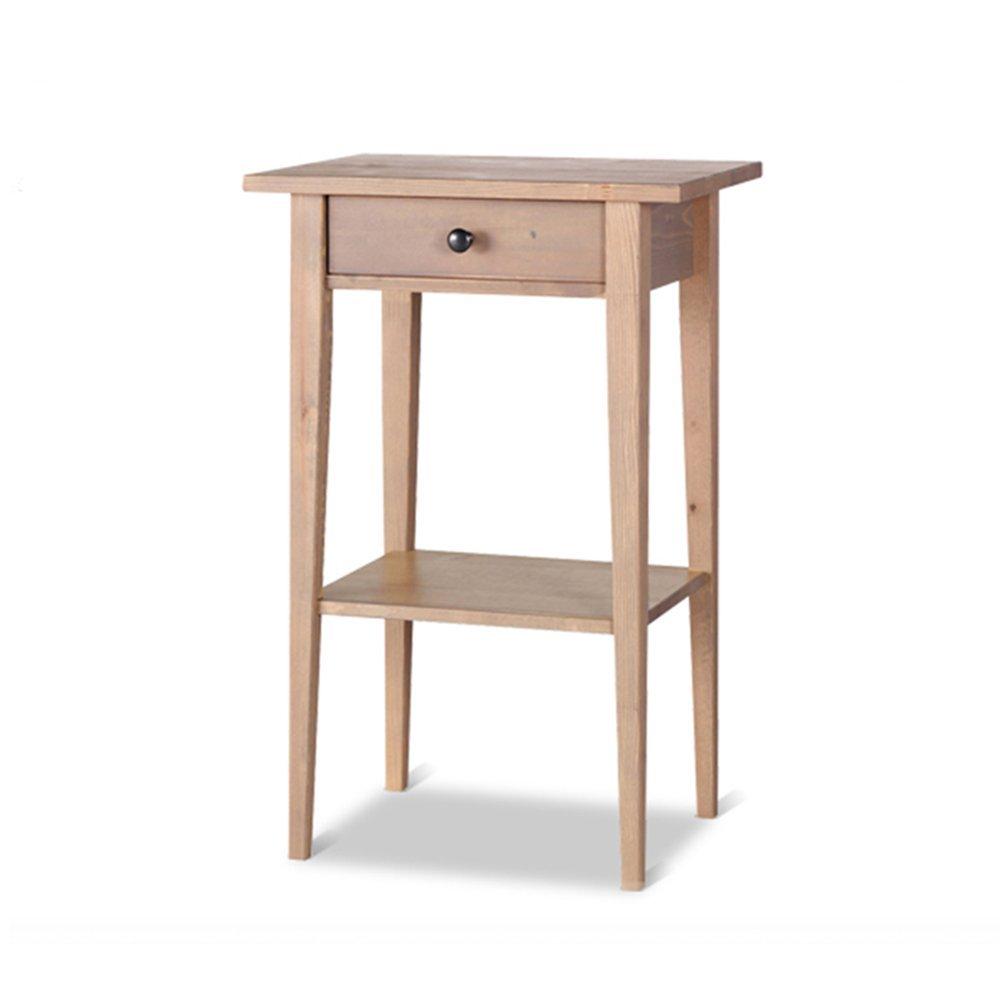 AiHerb.LT nightstand Bedside Cabinet European Solid Wood Bedside Cabinet Bedroom Bedside Table Bedside Cabinet Lockers (Color : Grayish brown)