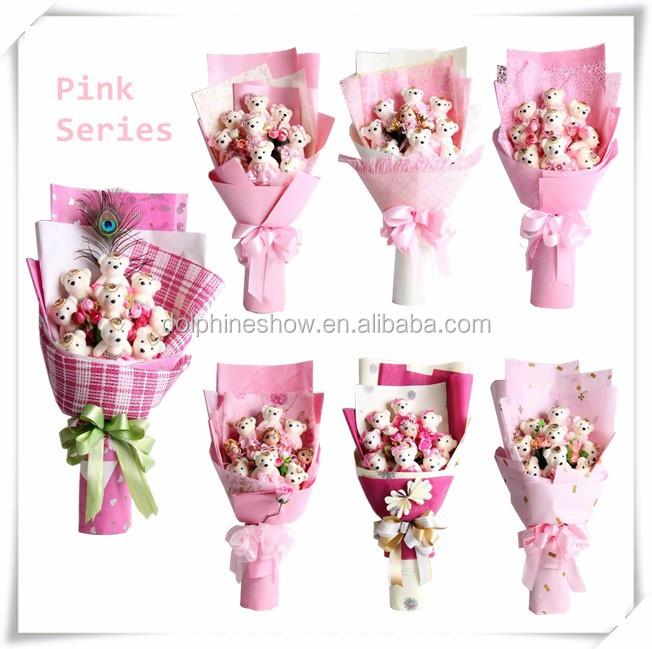 Fashion Valentine Gift Soft Plush Toy Teddy Bear Flower Bouquet ...