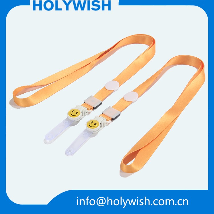 Nice logo heat tranfer custom plastic buckle neck lanyards for party