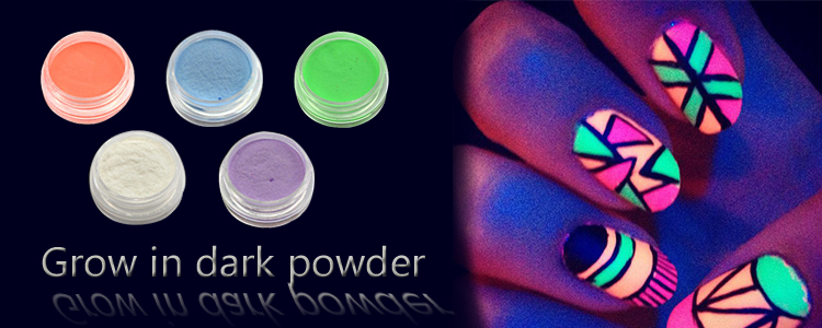 Roniki Glowing Color Effect Fluorescent Pigment Glitter Nail Glow In ...