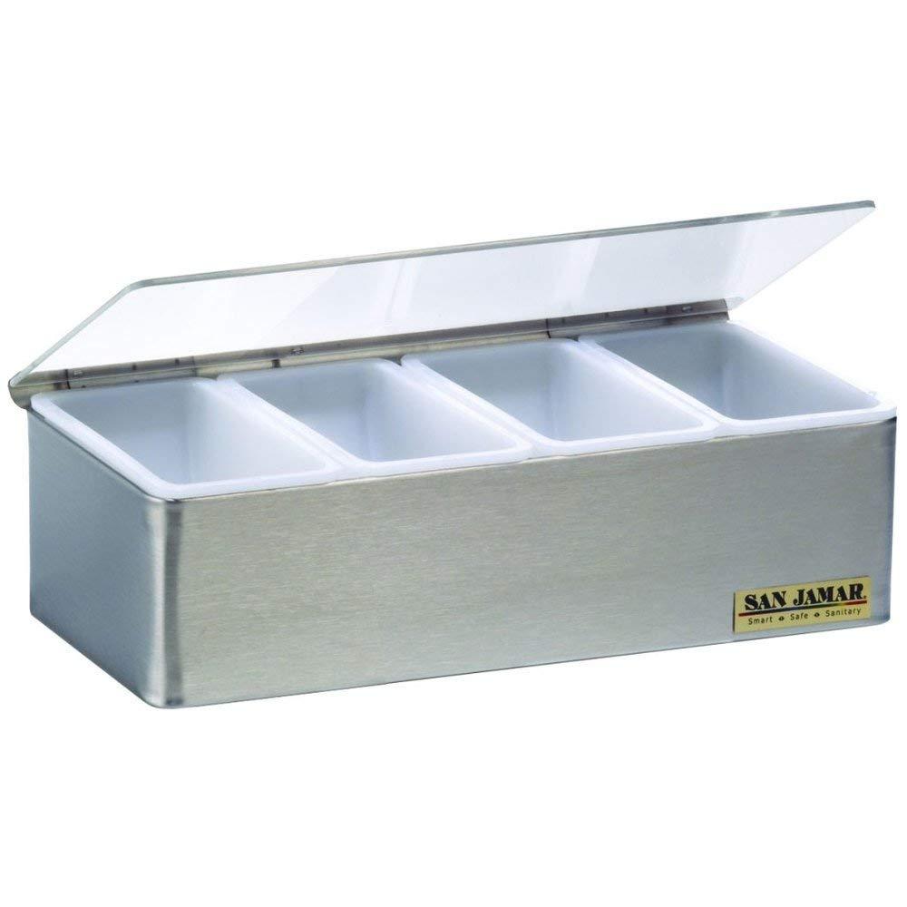 San Jamar B4124L Garnish Tray - 4 Pint (2 Qt.) Capacity