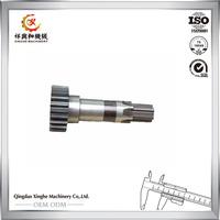 Hardware manufacturer custom precision CNC machining steel spline gear shaft stainless steel spline shaft