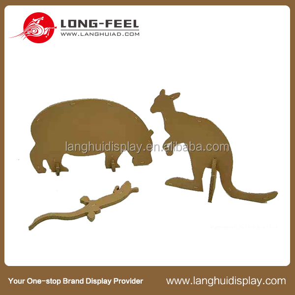 wonderful fashion 3D cardboard animal, home decoration 3D cardboard animal deer gecko