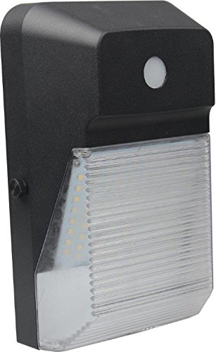 Wall Pack Mini LED Light; 20W (100W Equivalent Flood Light) 100V-277V, 2,400 Lumens, 50,000 Hours, Wet Location Rated & UL Listed, 5 Year Warranty, Day Light 5000K (With Photocell)