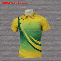 Plus size custom color combination polo shirts for men