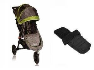 Baby Jogger 2012 GT Mini Stroller WITH Baby Jogger Black Footmuff (Shadow/Green)