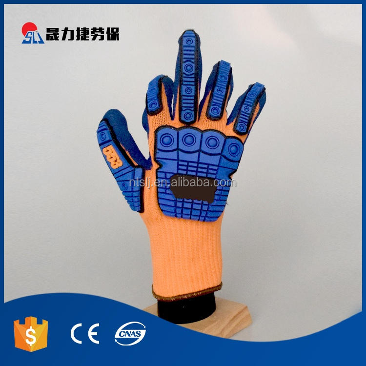 High quality cut resistant fibre nitrile mechanical working gloves
