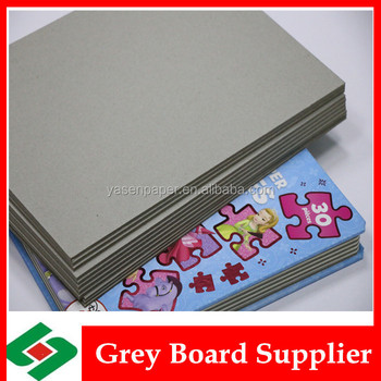 1500gsm laminated stocklot grey paperboard