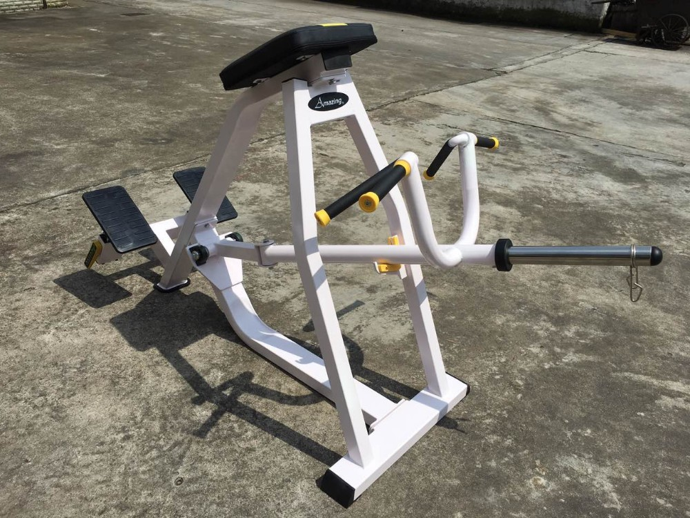 Lying T Bar Row Fitness Stretching Exercise Machine Back