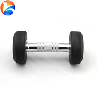 Round head plastic dipping dumbbell weight lifting equipment
