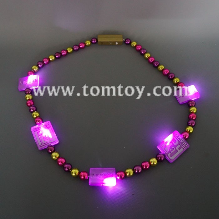 Square Block Led Beads Necklace