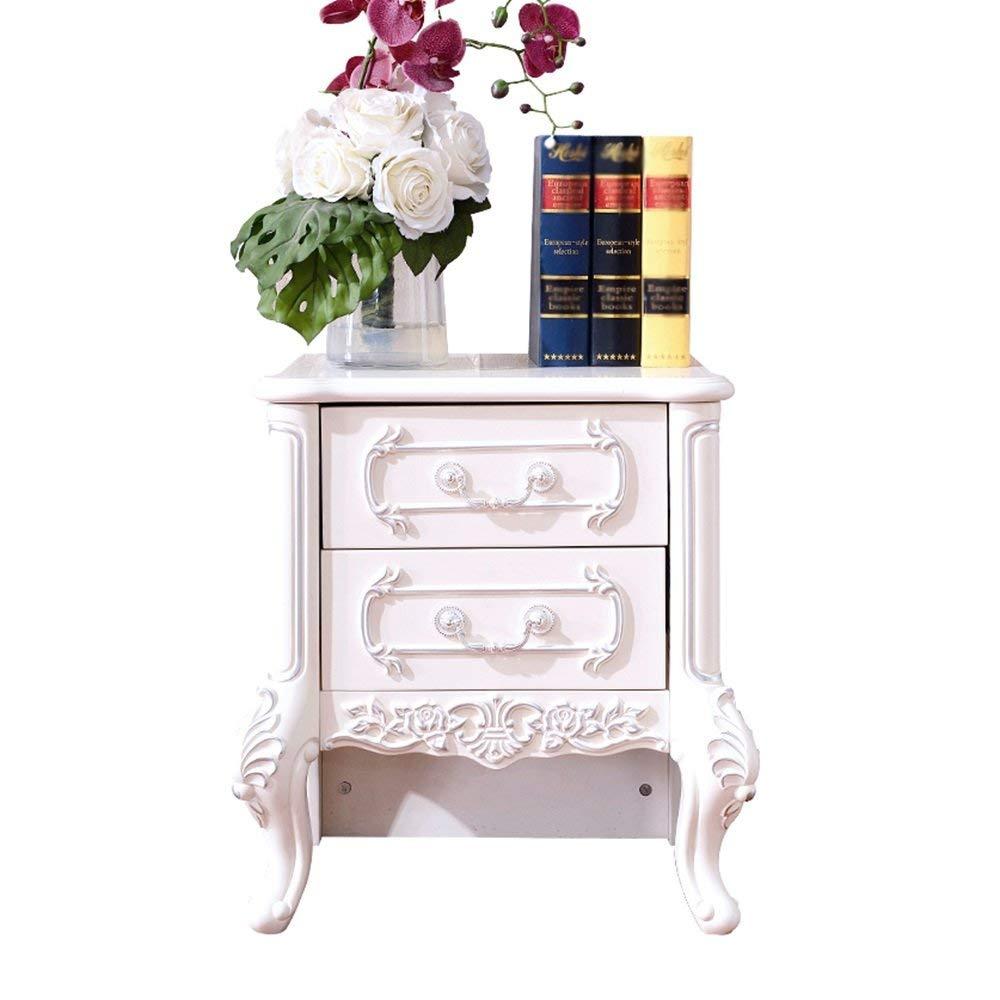 PM-Nightstands European Bedside Cabinet Locker Solid Wood Bedside Cabinet Storage Cabinet