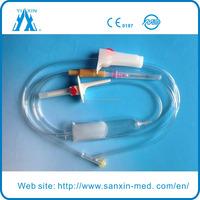 Disposable blood transfusion set with venous puncture set