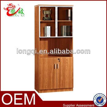 China Supplier Glass Door Bookcase File Cabinet Wood Lockable Bookshelf  M2222