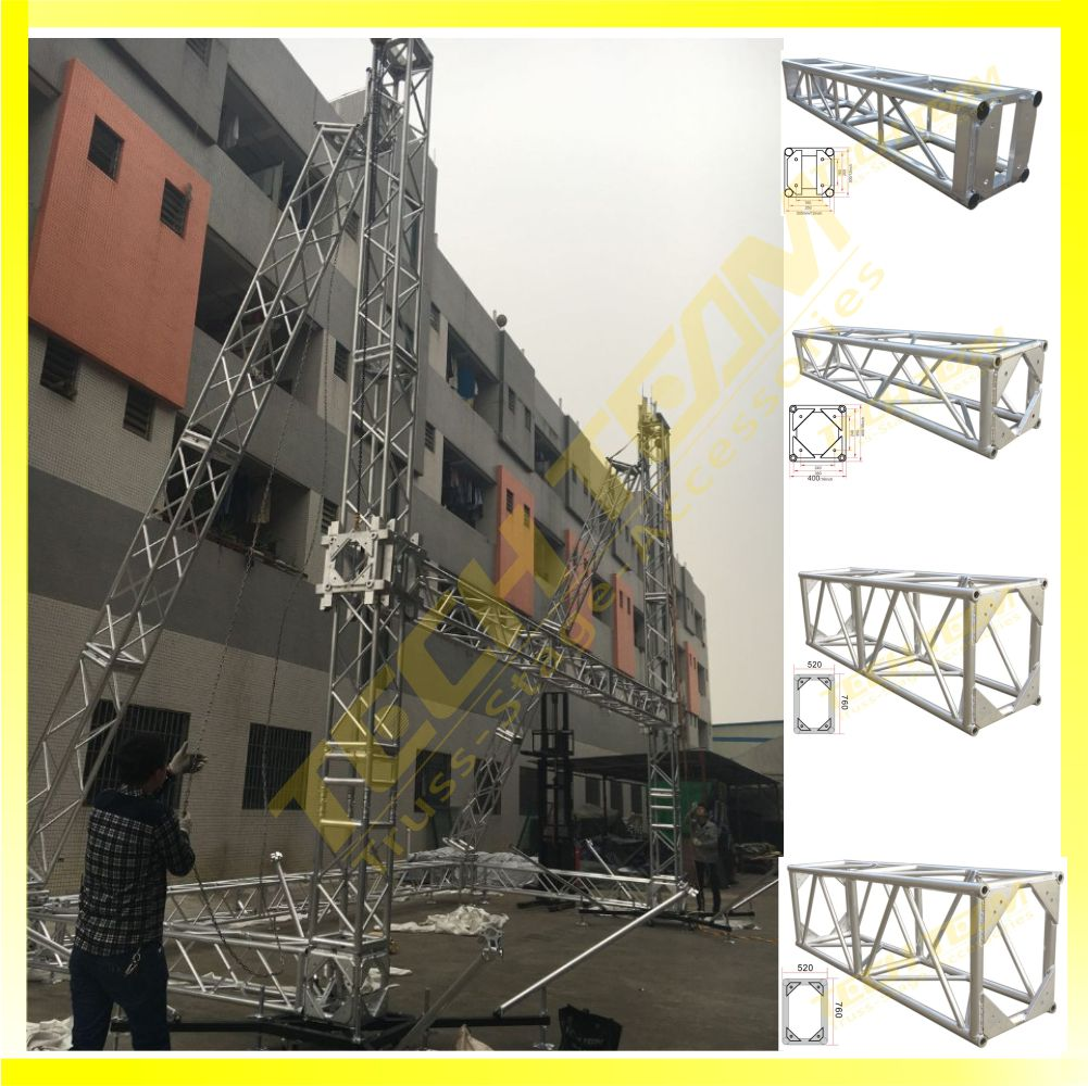 Aluminum Stage Frame Truss Structure Truss Support