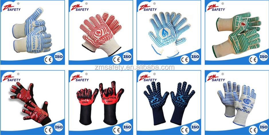Siliconen Afdrukken Warmte Beschermende Katoen Koken Handschoenen Oven bbq Handschoen