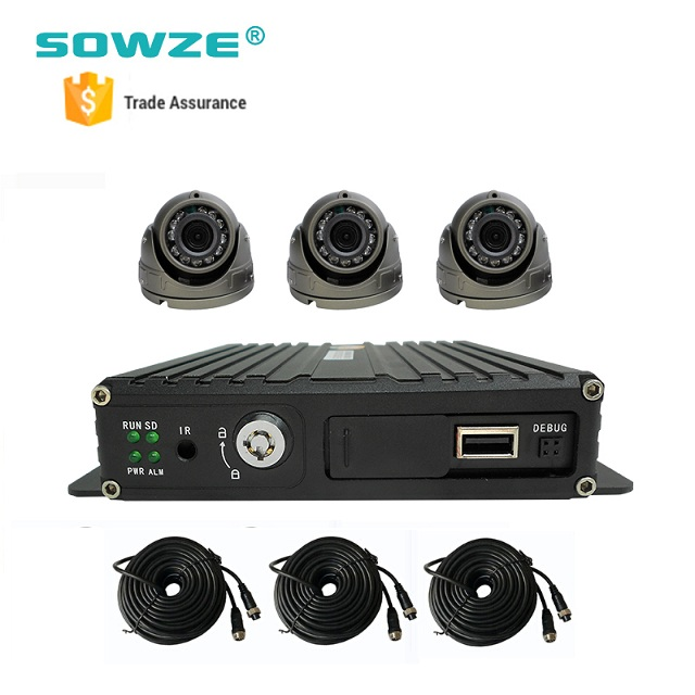 3G GPS Tracking System Mobile DVR Kit with Inside Dome Cameras for School Bus