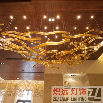 Zlz041c modern decorative chandelier art hand blown glass rods zlz041c modern decorative chandelier art hand blown glass rods pendant light aloadofball Image collections