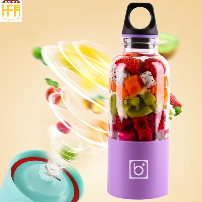 500Ml USB Fruit Juicer For Traveling Working Outdoors Juicer Mixer Bottle Portable Rechargeable Electric Blender Juicer