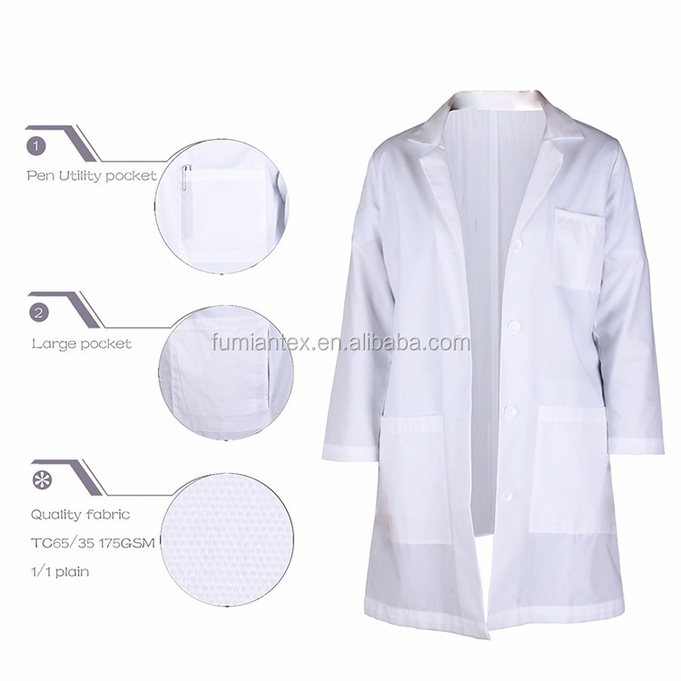 Durable China Made Lab Coat School Teacher Uniform