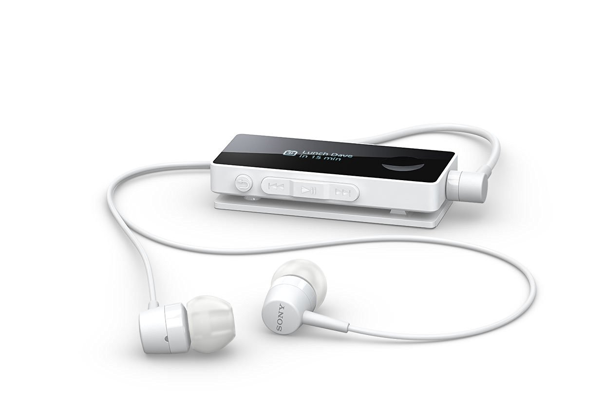 1c20df8a43b Get Quotations · Sony NFC Bluetooth Stereo Headset with Built-in FM Radio  and OLED Display