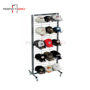 Metal floor standing hat display case / high end iron wire hat display shelf