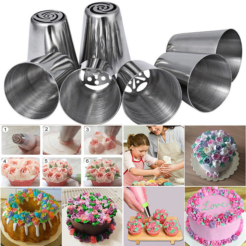14pcs set Stainless steel Nozzle Baking tools set Rotating Cake decorating tools