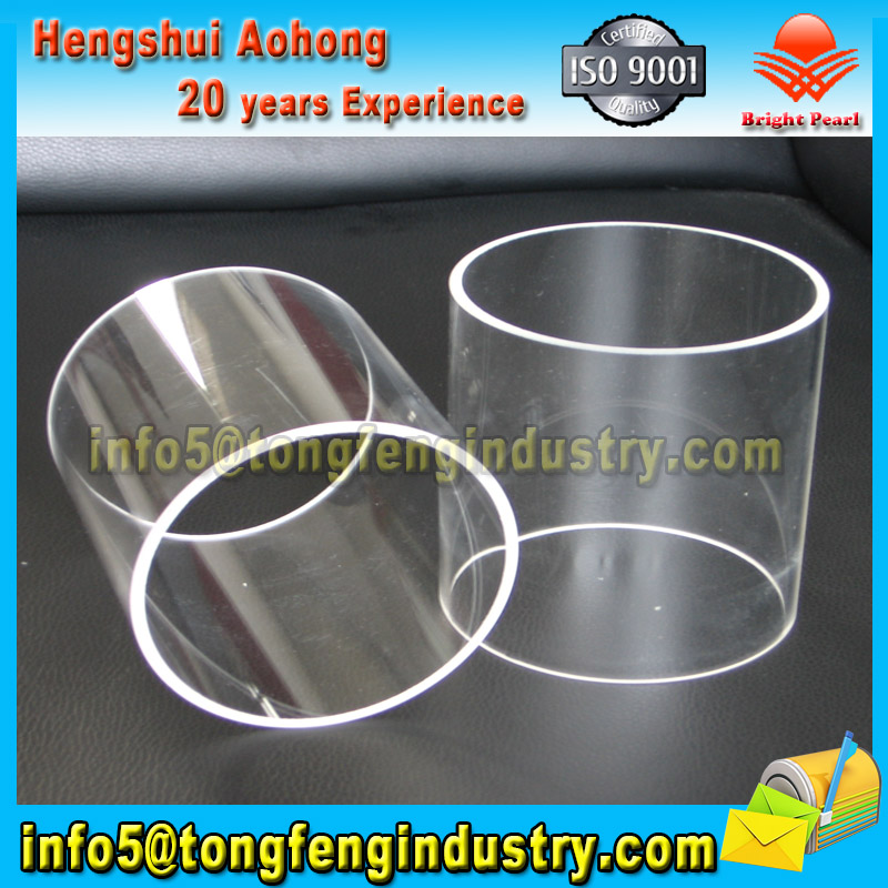 High temperature Customized Clear Quartz glass tube