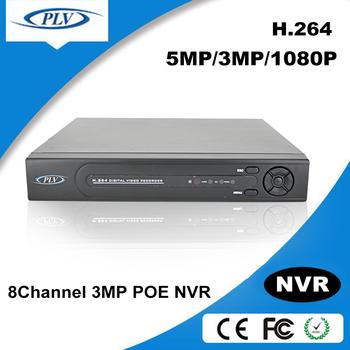 H.264 Cctv Nvr 8ch Dvr Rohs Conform Cms Free Software Poe Ip ...