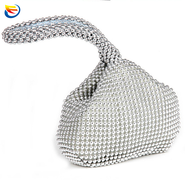 Hand bag euro aluminium trihedron cosmetic bag handbag fashion design dinner party packages in 0156