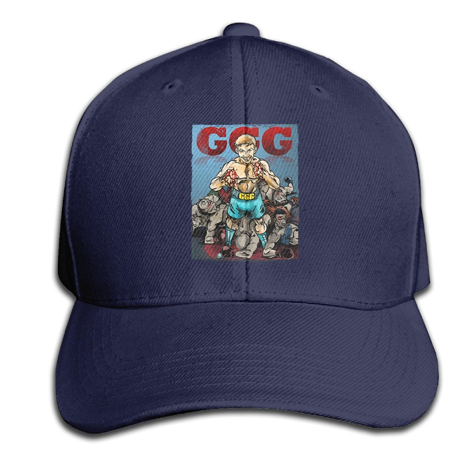 1cabf25b Get Quotations · Kexiaos Gennady Golovkin GGG Boxing Plain Adjustable  Snapback Hats Caps