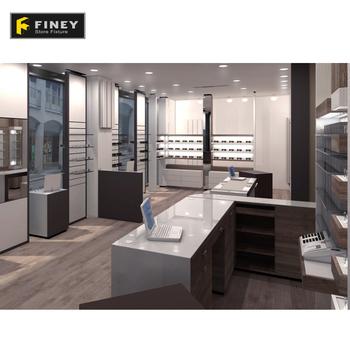 Customized Eyewear Showroom Interior Wood Display Optical Decoration Design Ideas