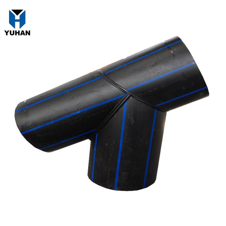 high quality hdpe fabricated fittings hdpe pipe saddle fitting saddle tees for water supply