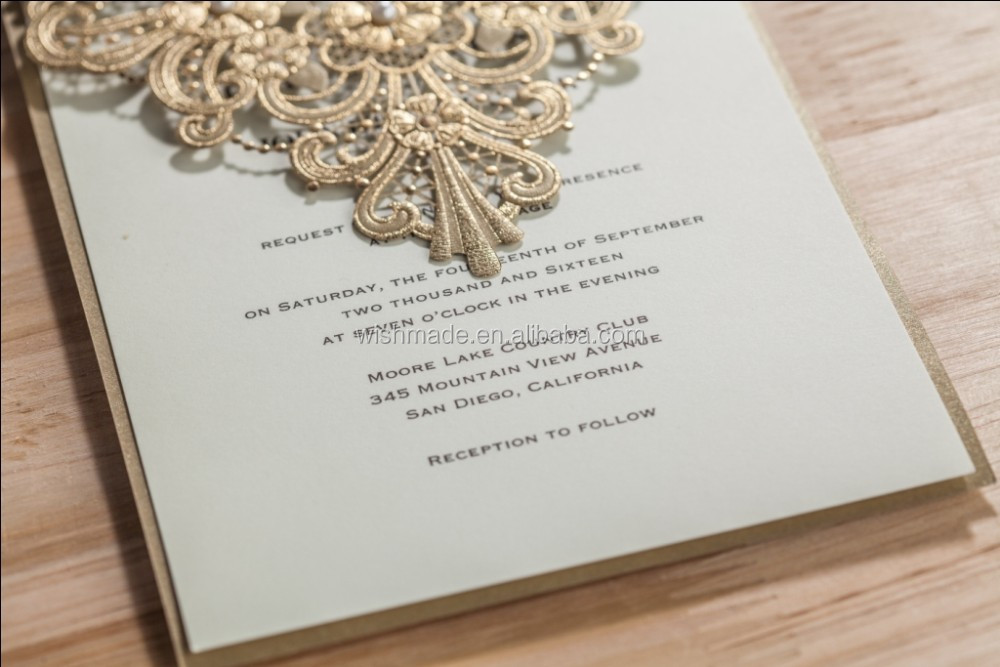 Unique Luxury Decoration Wedding / Party Invitations Best Selling ...